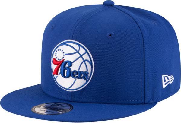New Era Men's Philadelphia 76ers Blue 9Fifty Adjustable Hat product image