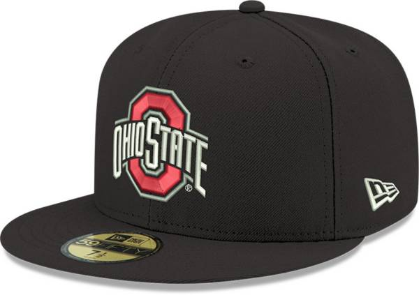 New Era Men's Ohio State Buckeyes Black 59Fifty Fitted Hat product image