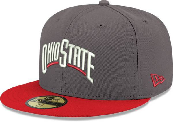 New Era Men's Ohio State Buckeyes Gray 59Fifty Fitted Hat product image