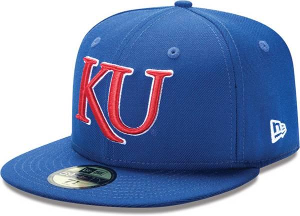 New Era Men's Kansas Jayhawks Blue 59Fifty Fitted Hat product image