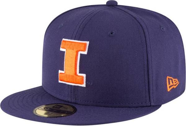 New Era Men's Illinois Fighting Illini Blue 59Fifty Fitted Hat product image