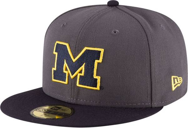 New Era Men's Michigan Wolverines Grey 59Fifty Fitted Hat product image
