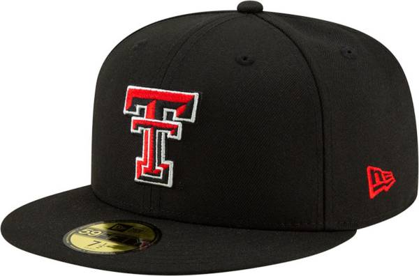 New Era Men's Texas Tech Red Raiders Black 59Fifty Fitted Hat product image