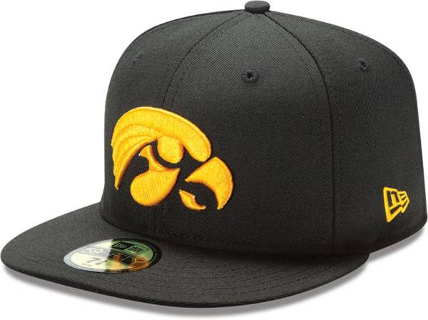 New Era Men's Iowa Hawkeyes Black 59Fifty Fitted Hat product image