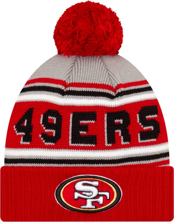 '47 Men's San Francisco 49ers Red Cuffed Cheer Knit Beanie product image