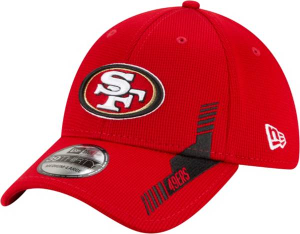 New Era Men's San Francisco 49ers Red Sideline 2021 Home 39Thirty Stretch Fit Hat product image