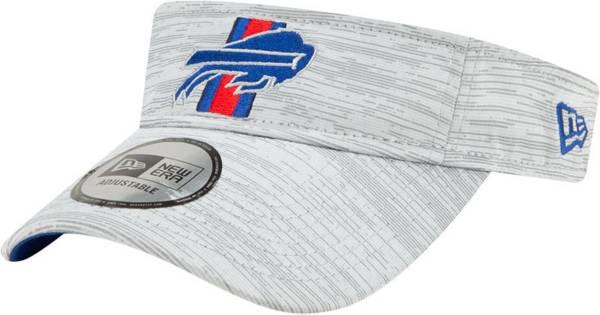 New Era Men's Buffalo Bills Grey Sideline 2021 Training Camp Adjustable Visor product image