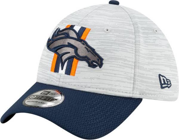 New Era Men's Denver Broncos Grey Sideline 2021 Training Camp 39Thirty Stretch Fit Hat product image