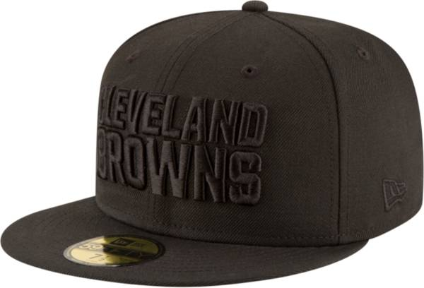 New Era Men's Cleveland Browns Black On Black 59Fifty Fitted Hat product image