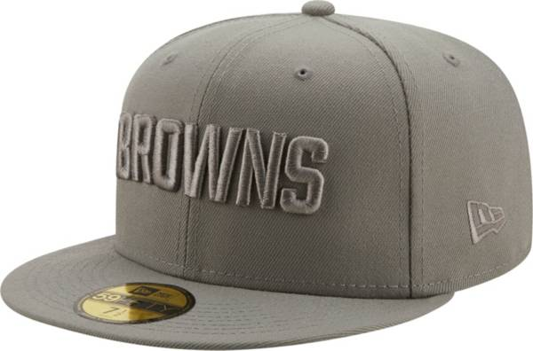 New Era Men's Cleveland Browns Color Pack 59Fifty Grey Fitted Hat product image