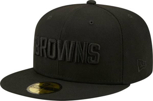 New Era Men's Cleveland Browns Color Pack 59Fifty Black Fitted Hat product image