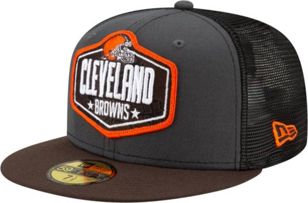 New Era Men's Cleveland Browns 2021 NFL Draft 59Fifty Graphite Fitted Hat product image