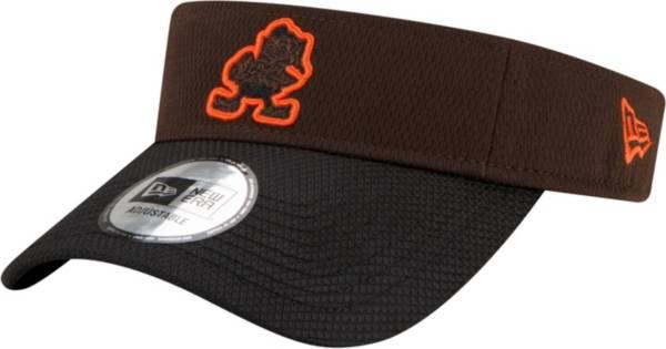 New Era Men's Cleveland Browns Sideline 2021 Road Adjustable Brown Visor product image