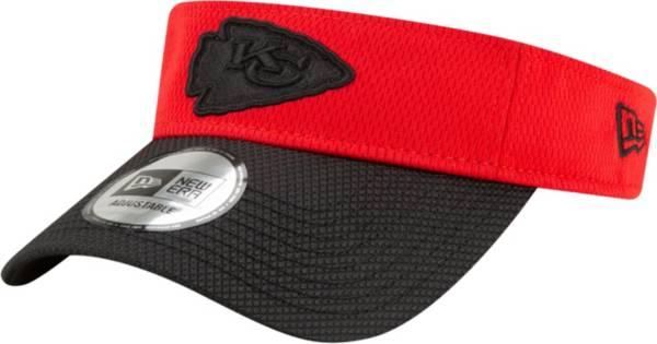 New Era Men's Kansas City Chiefs Sideline 2021 Road Adjustable Red Visor product image
