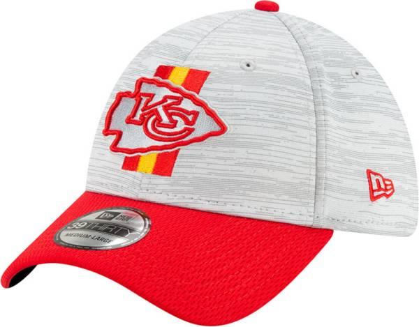 New Era Men's Kansas City Chiefs Grey Sideline 2021 Training Camp 39Thirty Stretch Fit Hat product image