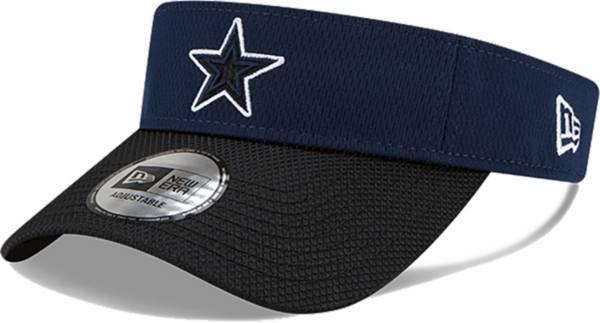 New Era Men's Dallas Cowboys Sideline 2021 Road Adjustable Navy Visor product image