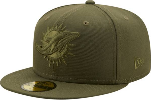 New Era Men's Miami Dolphins Color Pack 59Fifty Olive Fitted Hat product image