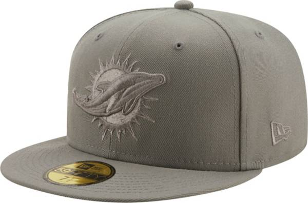 New Era Men's Miami Dolphins Color Pack 59Fifty Grey Fitted Hat product image