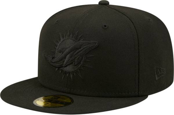 New Era Men's Miami Dolphins Color Pack 59Fifty Black Fitted Hat product image