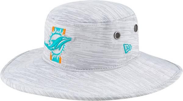 New Era Men's Miami Dolphins Grey Sideline 2021 Training Camp Panama Bucket Hat product image