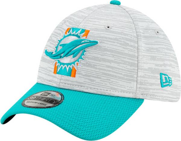 New Era Men's Miami Dolphins Grey Sideline 2021 Training Camp 39Thirty Stretch Fit Hat product image