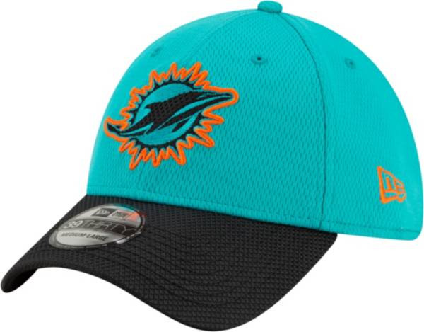 New Era Men's Miami Dolphins Sideline 2021 Road 39Thirty Aqua Stretch Fit Hat product image