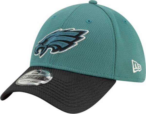 New Era Men's Philadelphia Eagles Sideline 2021 Road 39Thirty Green Stretch Fit Hat product image