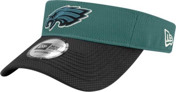 New Era Men's Philadelphia Eagles Sideline 2021 Road Adjustable Green Visor product image