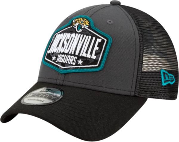 New Era Men's Jacksonville Jaguars 2021 NFL Draft 9Forty Graphite Adjustable Hat product image