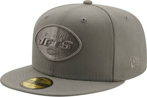 New Era Men's New York Jets Color Pack 59Fifty Grey Fitted Hat product image