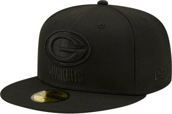 New Era Men's Green Bay Packers Color Pack 59Fifty Black Fitted Hat product image