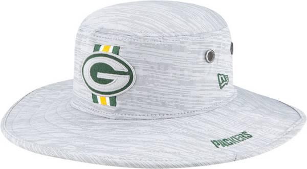 New Era Men's Green Bay Packers Grey Sideline 2021 Training Camp Panama Bucket Hat product image
