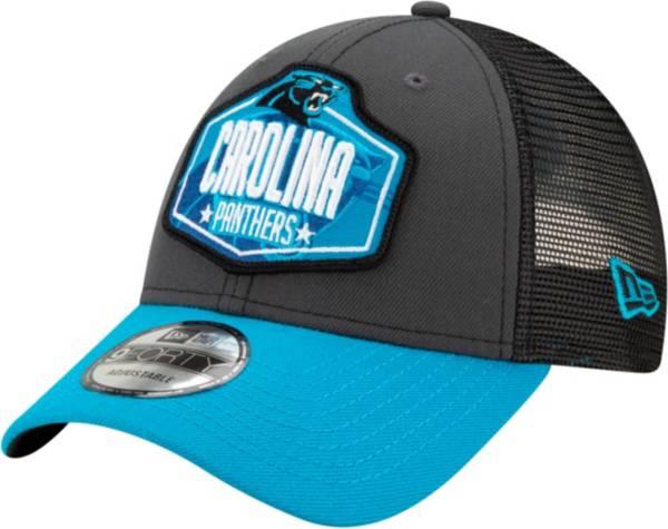 New Era Men's Carolina Panthers 2021 NFL Draft 9Forty Graphite Adjustable Hat product image