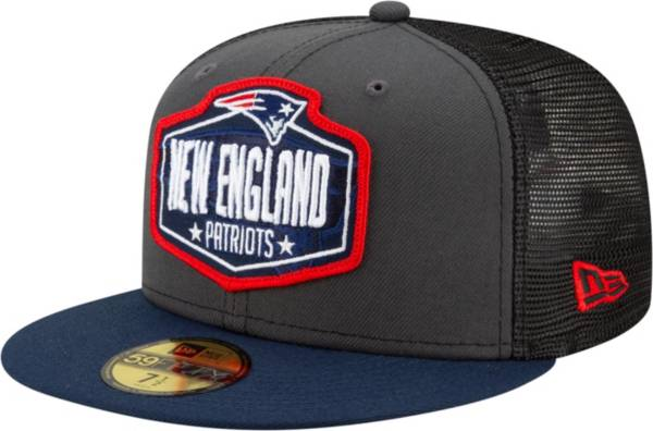 New Era Men's New England Patriots 2021 NFL Draft 59Fifty Graphite Fitted Hat product image