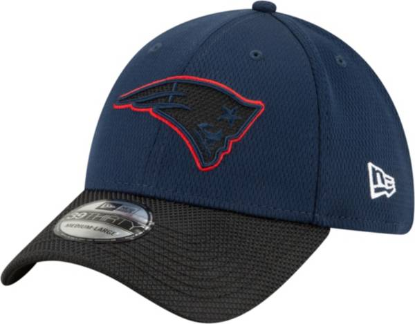 New Era Men's New England Patriots Sideline 2021 Road 39Thirty Navy Stretch Fit Hat product image