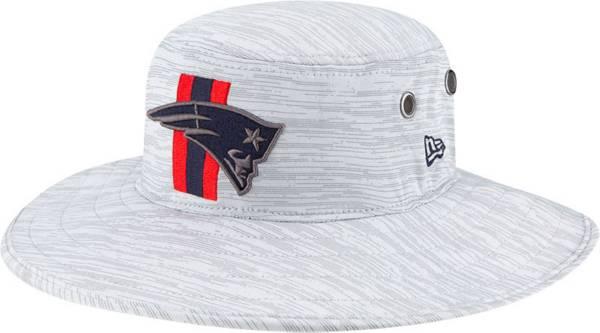 New Era Men's New England Patriots Grey Sideline 2021 Training Camp Panama Bucket Hat product image