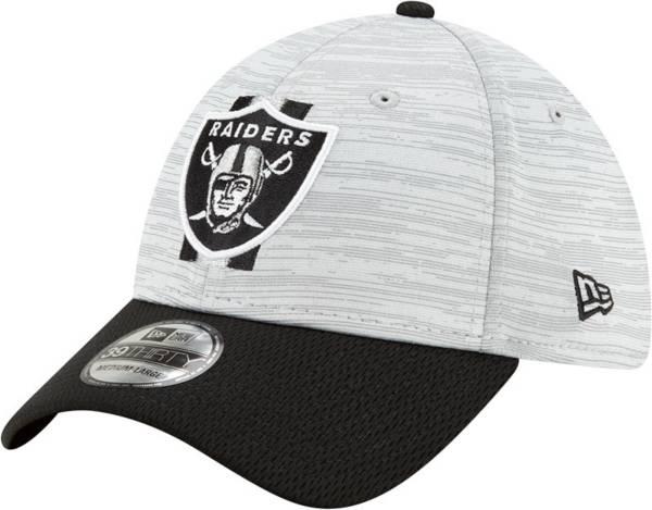 New Era Men's Las Vegas Raiders Grey Sideline 2021 Training Camp 39Thirty Stretch Fit Hat product image