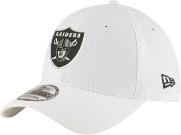 New Era Men's Las Vegas Raiders 39Thirty White Stretch Fit Hat product image
