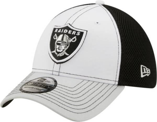 New Era Men's Las Vegas Raiders Team Neo 39Thirty White Stretch Fit Hat product image