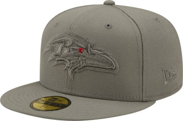 New Era Men's Baltimore Ravens Color Pack 59Fifty Grey Fitted Hat product image