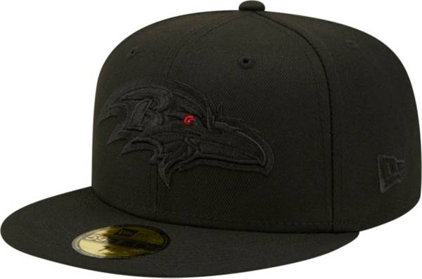 New Era Men's Baltimore Ravens Color Pack 59Fifty Black Fitted Hat product image