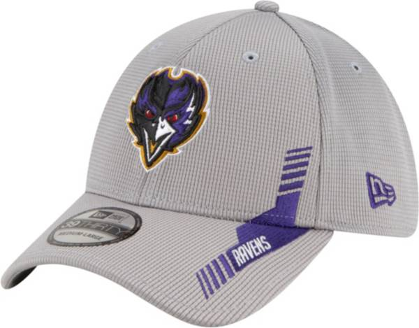 New Era Men's Baltimore Ravens Sideline 2021 Home 39Thirty Grey Stretch Fit Hat product image