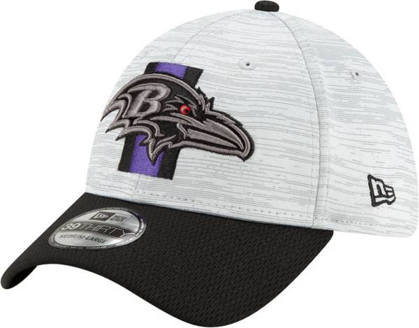 New Era Men's Baltimore Ravens Grey Sideline 2021 Training Camp 39Thirty Stretch Fit Hat product image