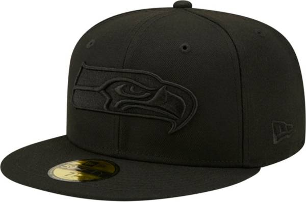 New Era Men's Seattle Seahawks Color Pack 59Fifty Black Fitted Hat product image