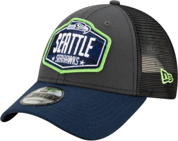 New Era Men's Seattle Seahawks 2021 NFL Draft 9Forty Graphite Adjustable Hat product image