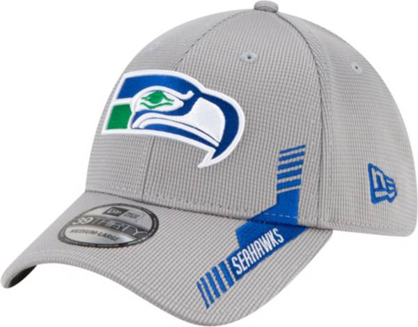 New Era Men's Seattle Seahawks Sideline 2021 Home 39Thirty Grey Stretch Fit Hat product image