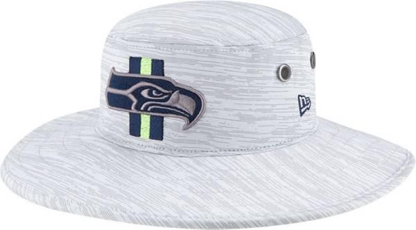 New Era Men's Seattle Seahawks Grey Sideline 2021 Training Camp Panama Bucket Hat product image
