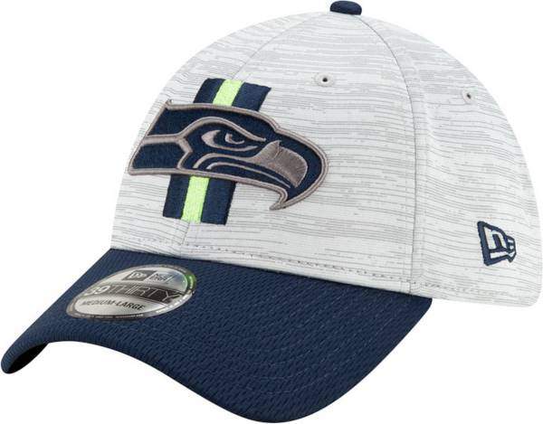 New Era Men's Seattle Seahawks Grey Sideline 2021 Training Camp 39Thirty Stretch Fit Hat product image