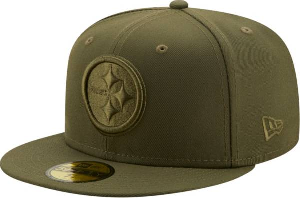New Era Men's Pittsburgh Steelers Color Pack 59Fifty Olive Fitted Hat product image