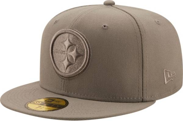 New Era Men's Pittsburgh Steelers Color Pack 59Fifty Grey Fitted Hat product image